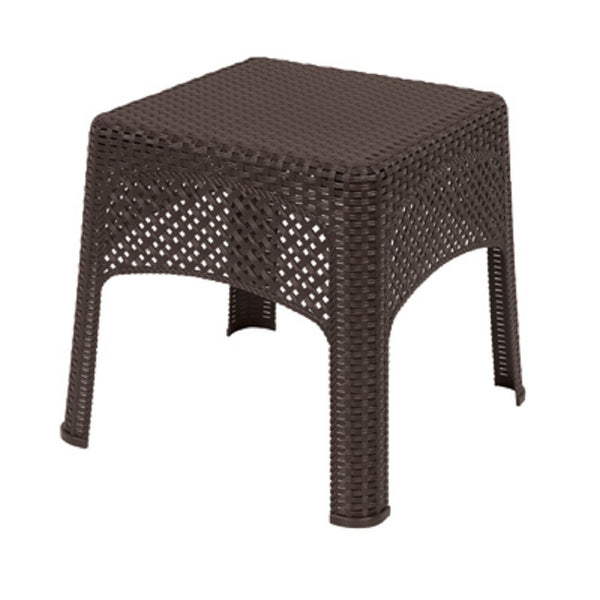 Adams 8071-60-3731 Woven Side Table, Earth Brown