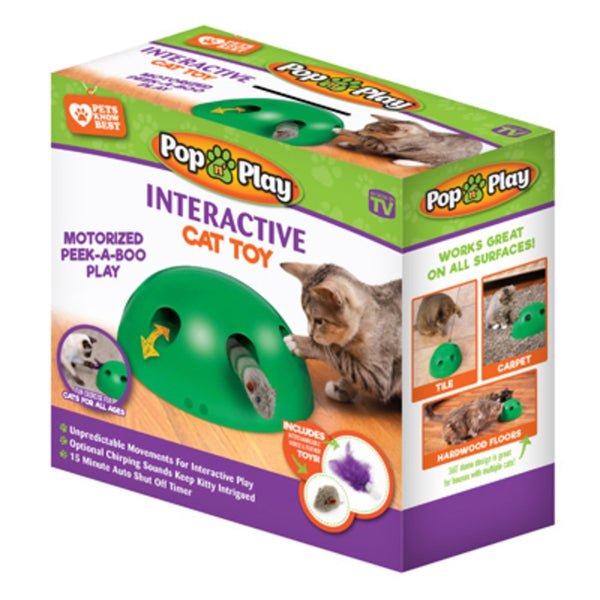 Allstar Innovations PY011112 As Seen On TV Pop N' Play Peek-A-Boo Cat Toy