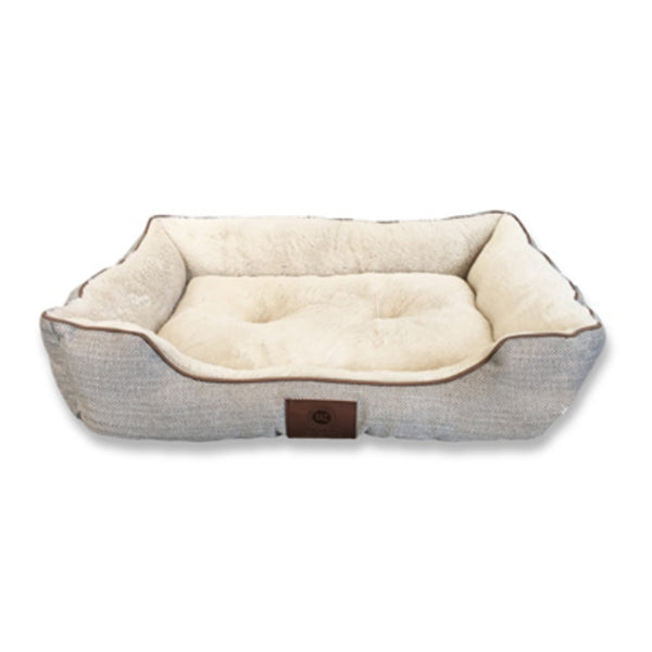 American Kennel Club AKC6630 Herringbone Pet Bed, 26 Inch