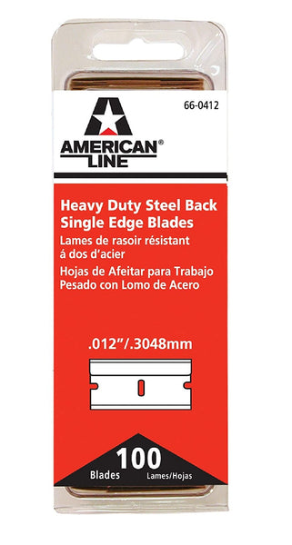American Safety Razor 66-0412 Single Edge Blade Steel Back, 1-1/2 Inch