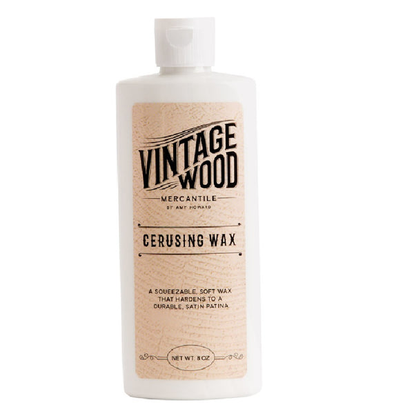 Amy Howard at Home AH971 Vintage Wood Mercantile Cerusing Wax, White, 8 Oz