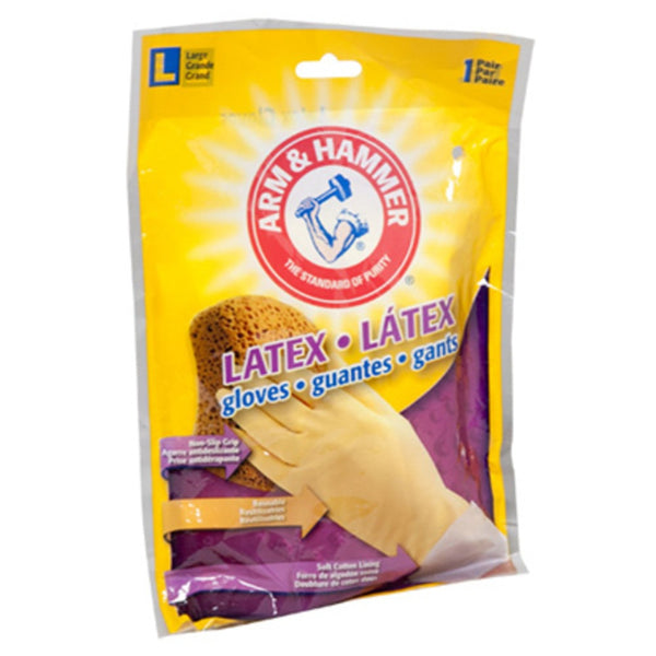 Arm & Hammer 1263 Latex Gloves, Large