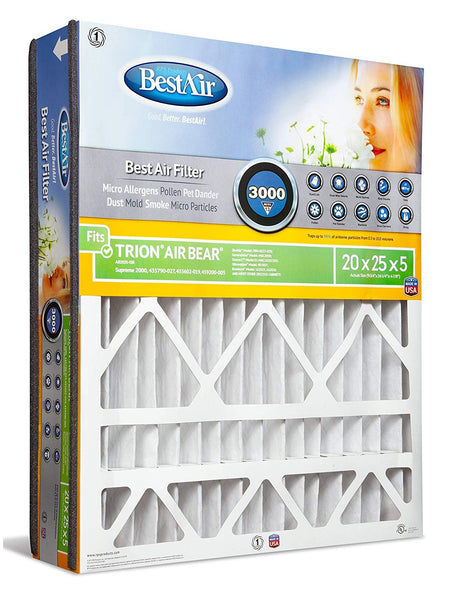 BestAir AB2025-13R Air Cleaning Furnace Filter