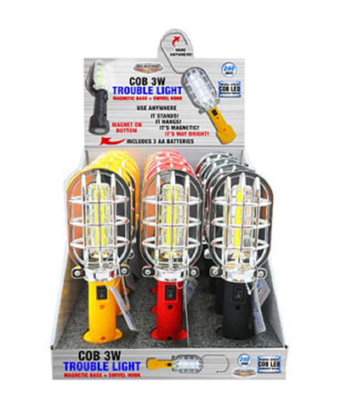 Blazing Ledz 702465 COB LED 3W Trouble Light, Assorted