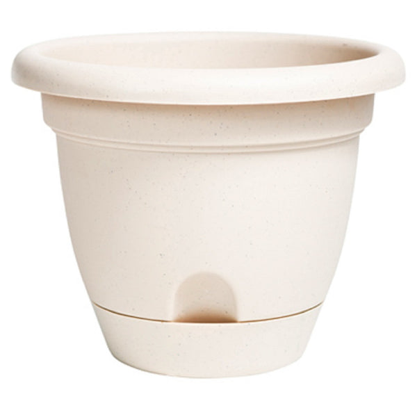 Bloem LP1083 Lucca Planter, Pebble Stone, 10 Inch