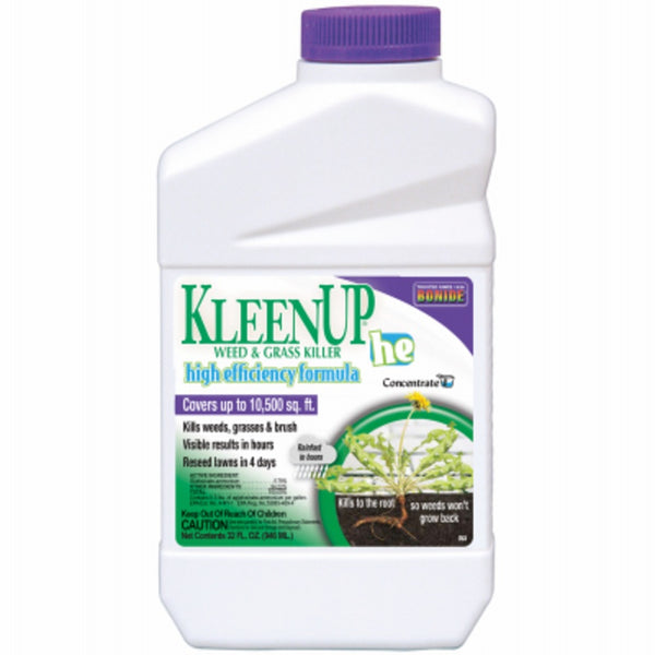 Bonide 753 KleenUp High-Efficiency Weed & Grass Killer, Quart