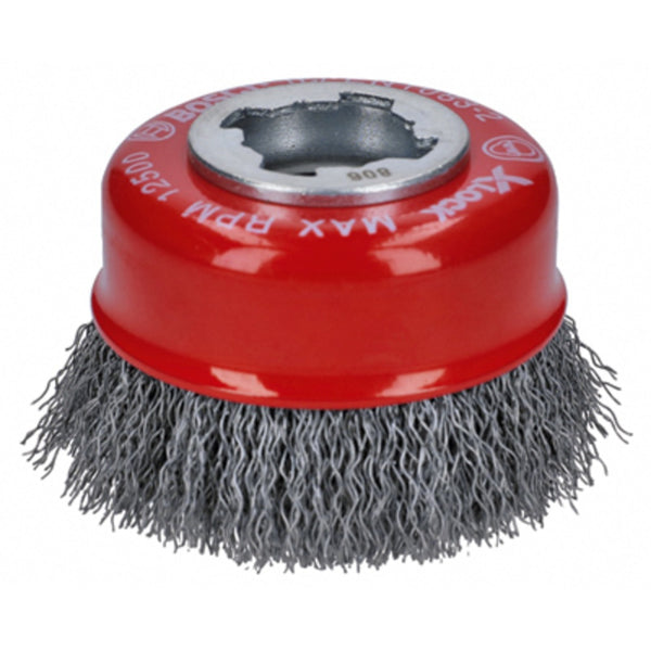 Bosch WBX318 X-Lock Arbor Crimped Wire Cup Brush, Carbon Steel