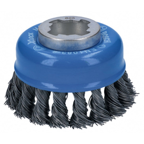 Bosch WBX328 X-Lock Arbor Knotted Wire Single Row Cup Brush, Carbon Steel