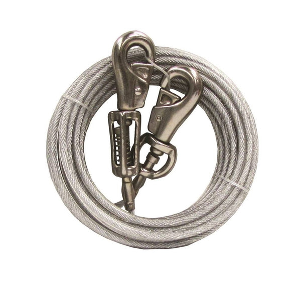 Boss Pet Q5730SPG99 PDQ Tie-Out With Spring, Silver