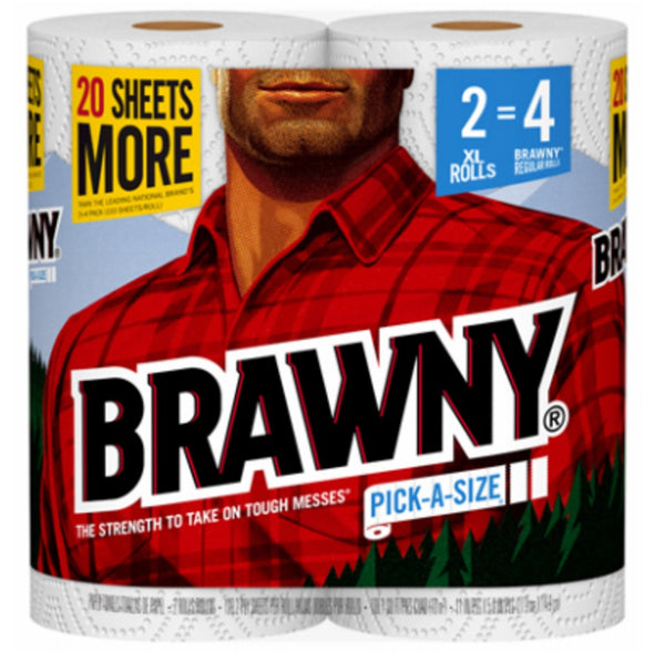 Brawny 44192 Paper Towels, White