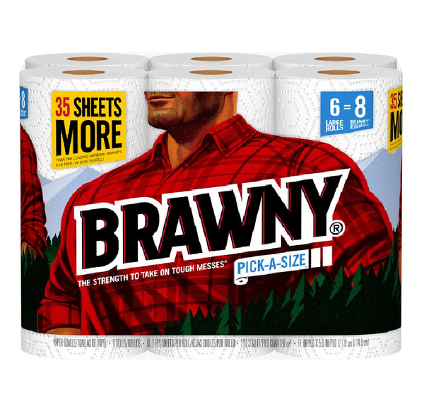 Brawny 44276 Paper Towels, White