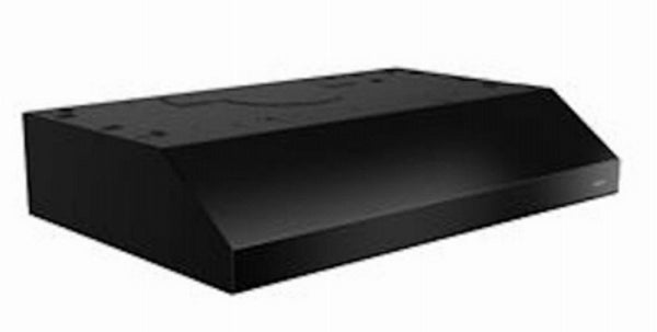 Broan BCSD130BL Glacier Convertible Under Cabinet Range Hood with Light, Black, 30 Inch