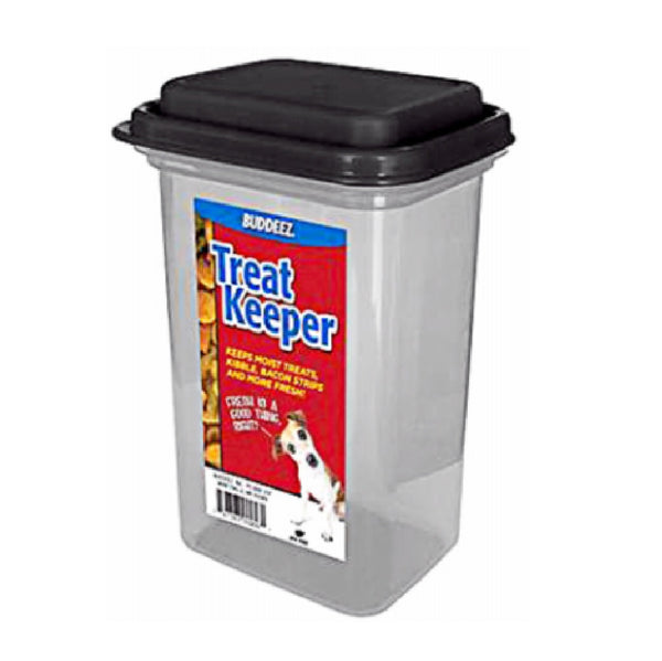 Buddeez 28004BLK Pet Treat Keeper, 12 Ounce