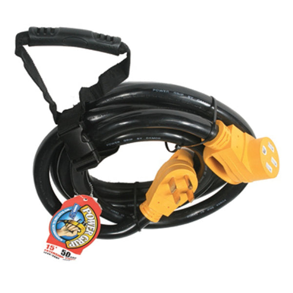 Camco 55194 Power Grip Extension Cord, 50 Amp, 125/250 V, 12500 Watts