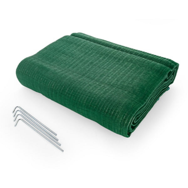 Camco 42880 Reversible Awning Leisure Mat, 6 feet X 9 feet, Green