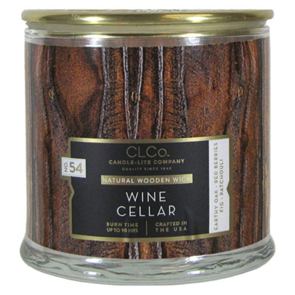 Candle Lite 4330667 Wine Cellar Wood Wick Candle, 14 OZ