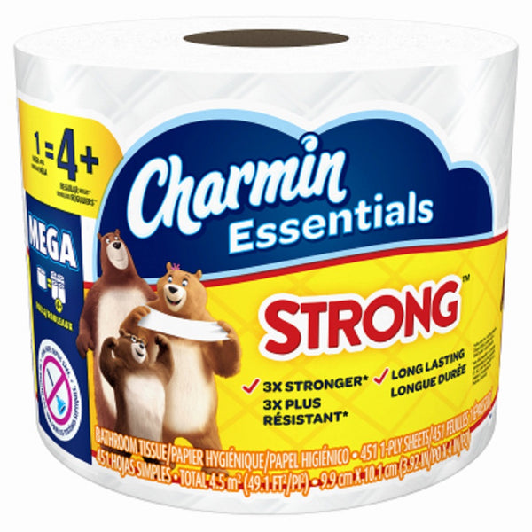 Charmin 98283 Essentials Strong Mega Toilet Paper, White