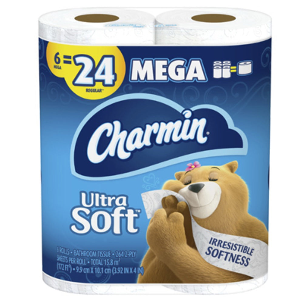 Charmin 52778 Ultra Soft Bath Tissue, 2-Ply