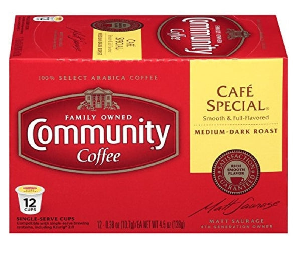Community Coffee 16262 Cafe Special Coffee, 12 Count
