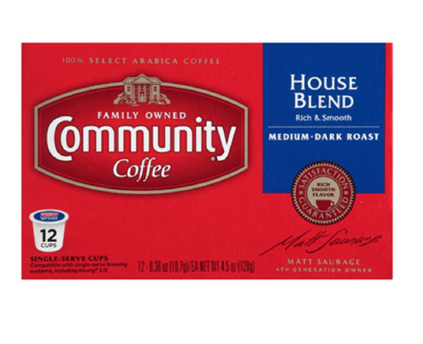 Community Coffee 16298 House Blend Coffee, 12 Count