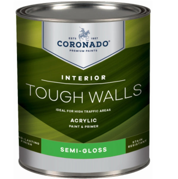 Coronado C22.34.4 Tough Walls Acrylic Latex Interior Paint & Primer, Quart
