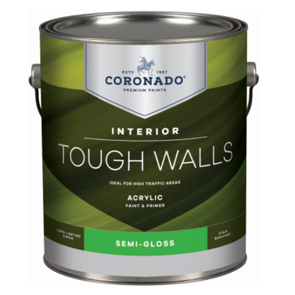 Coronado C22.36.1 Tough Walls Acrylic Latex Interior Paint & Primer, Gallon