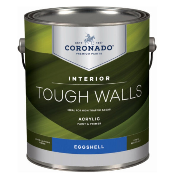 Coronado C34.32.1 Tough Walls Acrylic Latex Interior Paint & Primer, Gallon