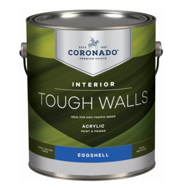 Coronado C34.36.1 Tough Walls Acrylic Latex Interior Paint & Primer, Gallon