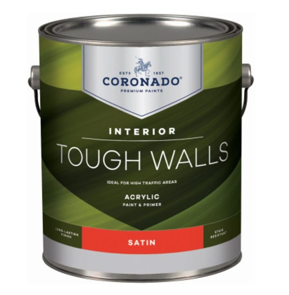 Coronado C60.1.1 Tough Walls Acrylic Latex Interior Paint & Primer, Gallon