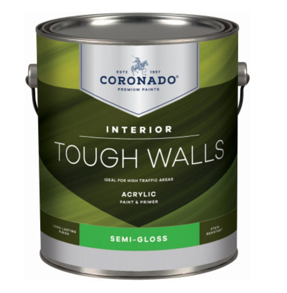 Coronado C22.1.1 Tough Walls Acrylic Latex Interior Paint & Primer, Gallon