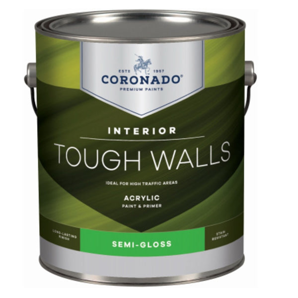 Coronado C22.33.1 Tough Walls Acrylic Latex Interior Paint & Primer, Gallon