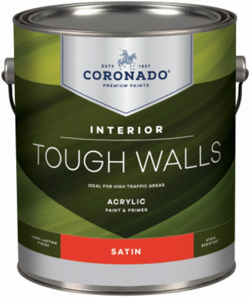 Coronado C60.34.1 Tough Walls Acrylic Latex Interior Paint & Primer, Gallon