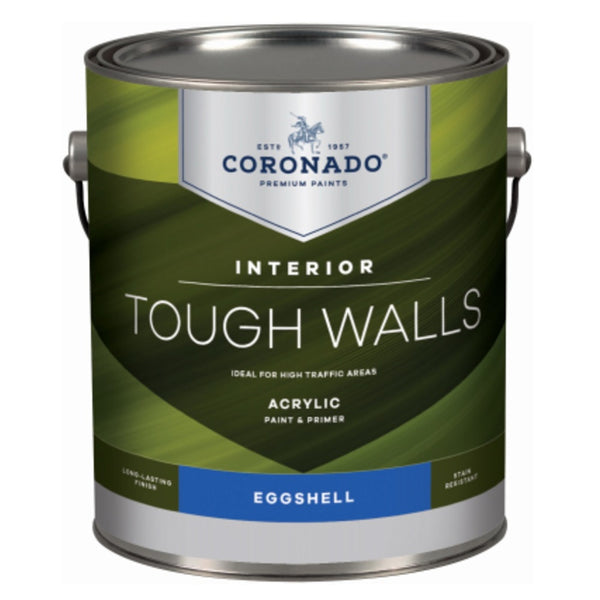 Coronado C34.1.1 Tough Walls Acrylic Latex Interior Paint & Primer, Gallon