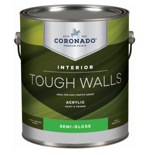 Coronado C22.34.1 Tough Walls Acrylic Latex Interior Paint & Primer, Gallon