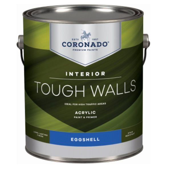 Coronado C34.33.1 Tough Walls Acrylic Latex Interior Paint & Primer, Gallon