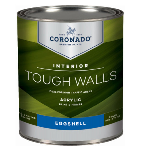 Coronado C34.34.4 Tough Walls Acrylic Latex Interior Paint & Primer, Quart