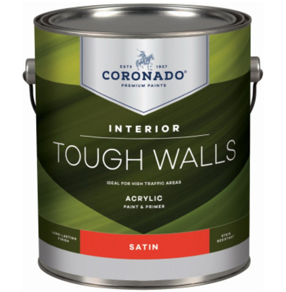 Coronado C60.32.1 Tough Walls Acrylic Latex Interior Paint & Primer, Gallon