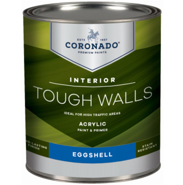 Coronado C34.33.4 Tough Walls Acrylic Latex Interior Paint & Primer, Quart
