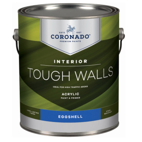Coronado C34.34.1 Tough Walls Acrylic Latex Interior Paint & Primer, Gallon