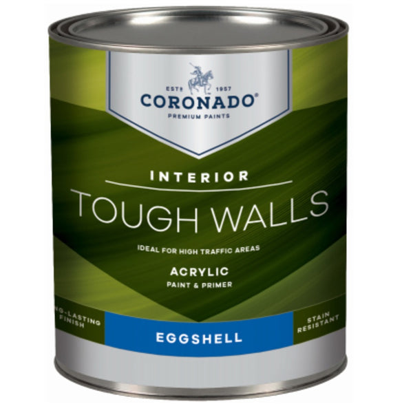 Coronado C34.32.4 Tough Walls Acrylic Latex Interior Paint & Primer, Quart