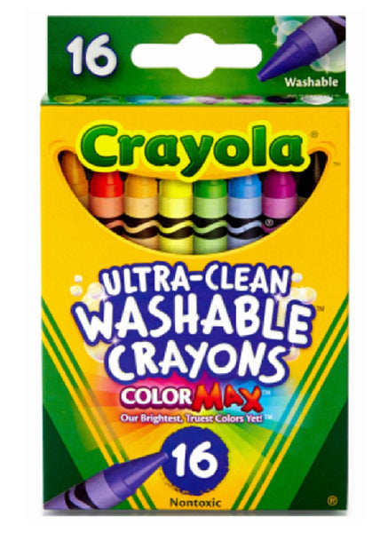 Crayola 52-6916 Ultra Clean Washable Crayons