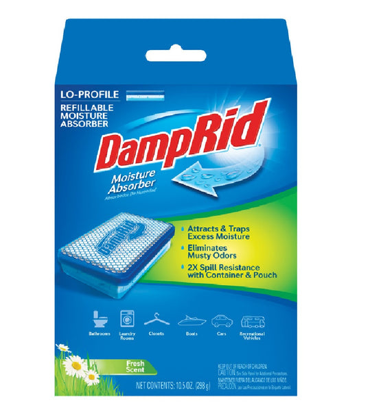 DampRid FG44 Low Profile Refillable Moisture Absorber, Fresh Scent, 10.5 Oz