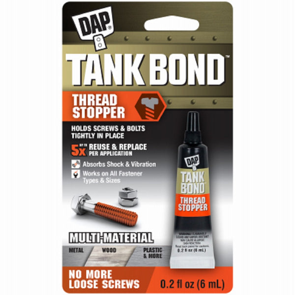 Dap 00167 Tank Bond Thread Stopper, Orange, 6 ML