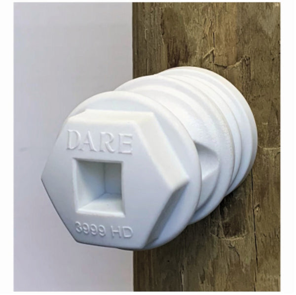 Dare 3999 Hex Head Insulator, White