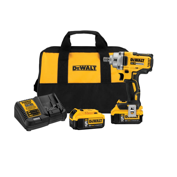 DeWalt DCF894P2 Lithium-Ion Cordless Impact Wrench Kit, Black/Yellow