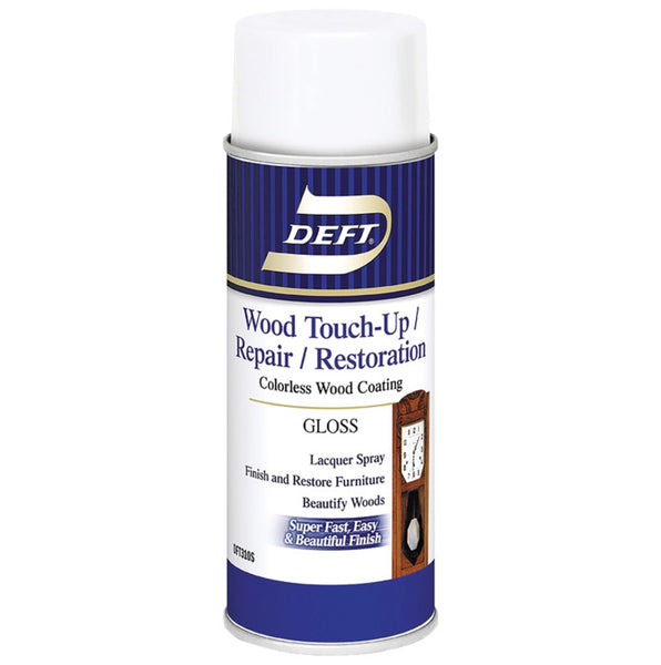 Deft DFT310S/54 Wood Touch Up & Repair Gloss Lacquer Spray, 12.25 Oz