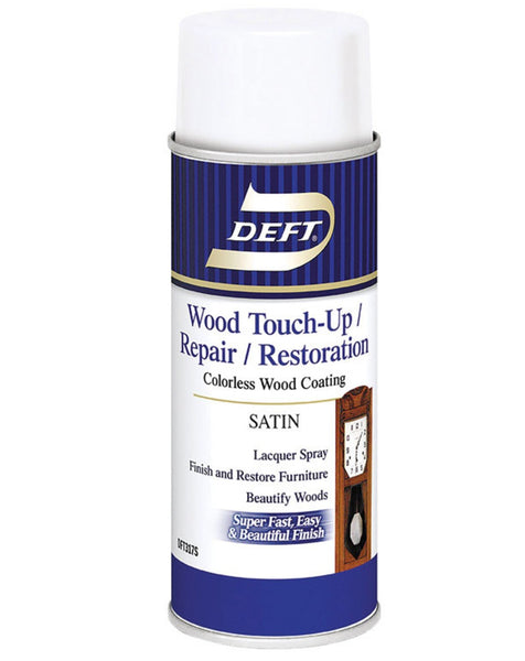 Deft DFT317S/54 Wood Touch Up & Repair Satin Lacquer Spray, 12.25 Oz