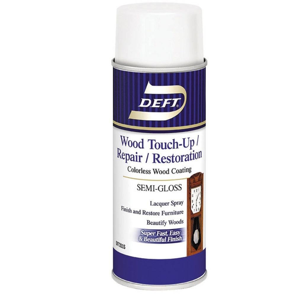 Deft DFT311S/54 Wood Touch Up & Repair Semi-Gloss Lacquer Spray, 12.25 Oz