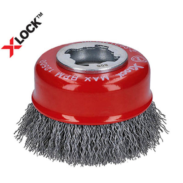 Diablo DPB300XCCC01F X-Lock Crimped Cup Brush, Metal, 3 Inch