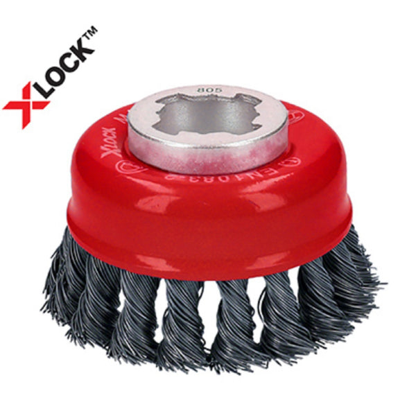 Diablo DPB275XKCC01F X-Lock Knotted Cup Brush, Metal, 2-3/4 Inch